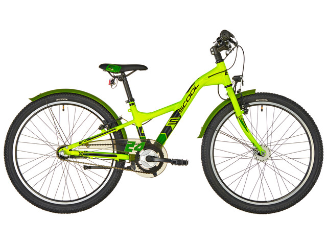 s'cool XXlite 24 3-S - Vélo enfant - alloy vert